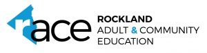 Text logo for Rockland Adult & Community Education partnership