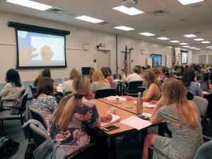 Participants learn math techniques.