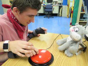 Stephen using stimulation tool