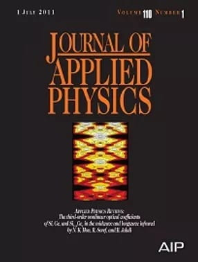 Journal Applied Physics Cover