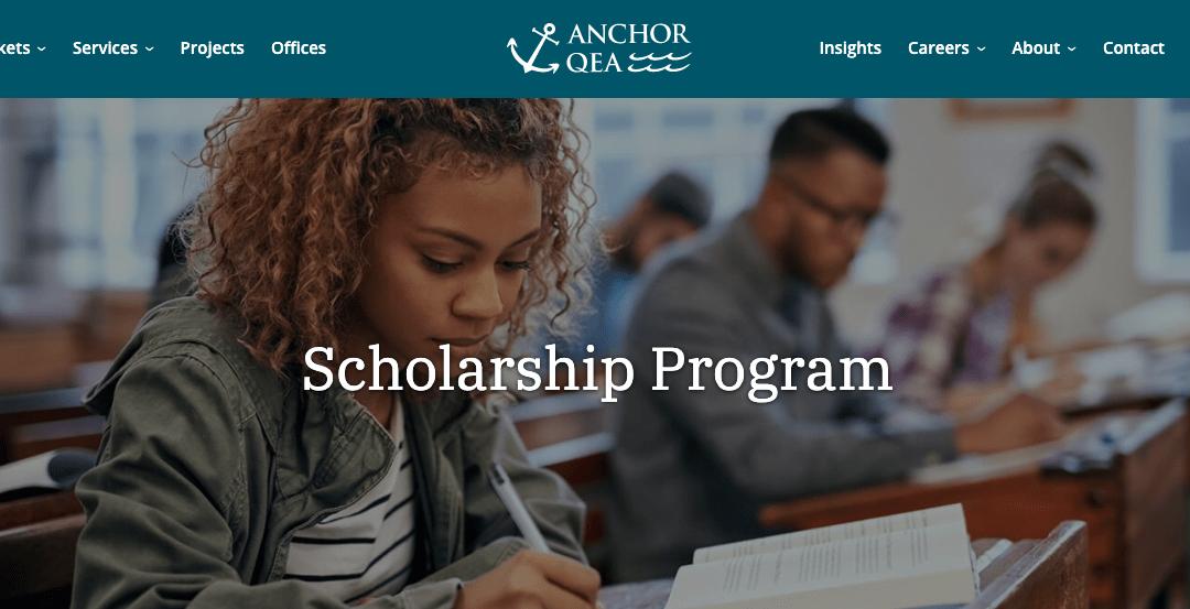 2020 Anchor QEA Scholarship – MP Delisle & Maria Winters