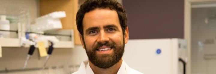 Portrait of UC Santa Cruz Assistant Professor of Chemistry & Biochemistry Nikolaos Sgourakis