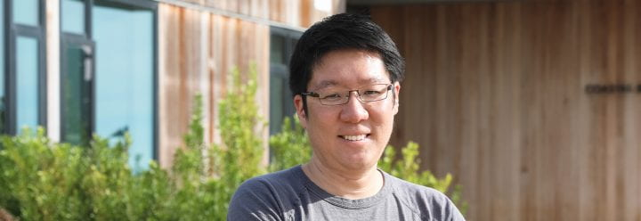 Portrait of UC Santa Cruz Assistant Professor of MCD Biology Euiseok Kim