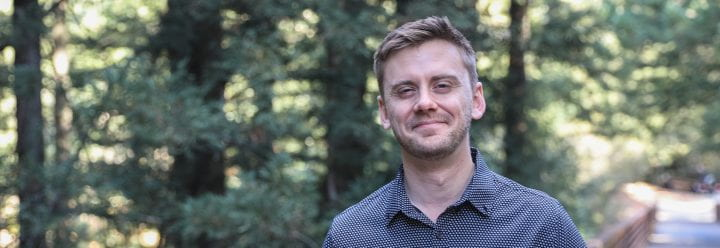 Portrait of UC Santa Cruz Assistant Professor of Chemistry & Biochemistry Shaun McKinnie
