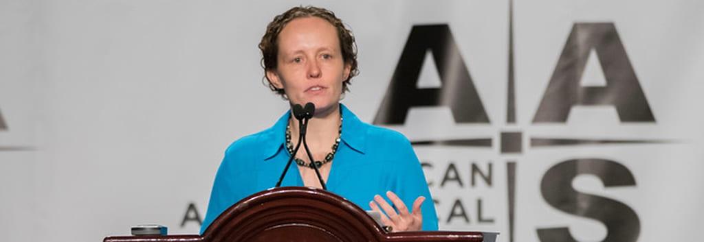 Portrait of UC Santa Cruz Associate Professor of Astronomy & Astrophysics Ruth Murray-Clay
