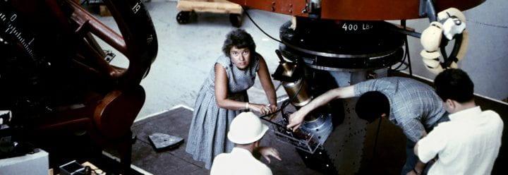 Vera Rubin at Lowell Observatory in Flagstaff, AZ in 1965.