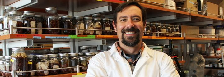 Portrait of UC Santa Cruz Associate Professor of Ecology & Evolutionary Biology Eric Palkovacs