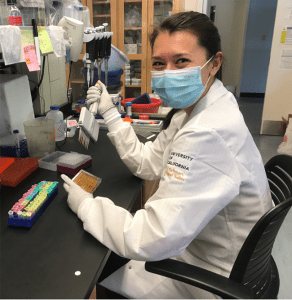 Assistant professor Jacqueline Kimmey in the antibody testing center