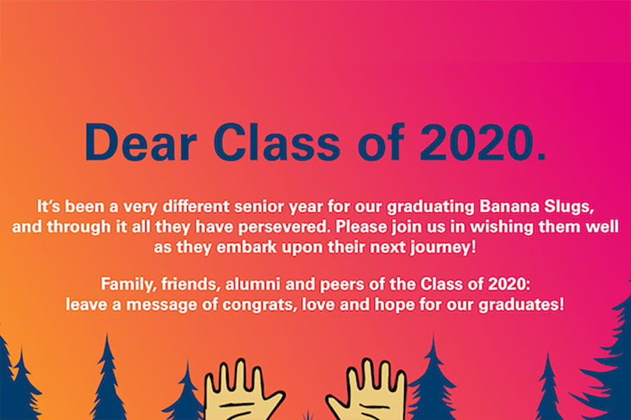Help us celebrate the Class of 2020 during graduate in place