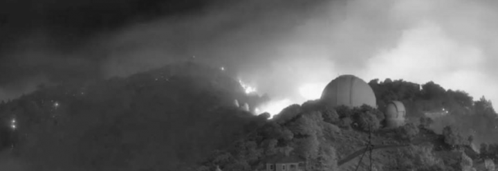 SCU Lighting Complex Fire burning at the Lick Observatory