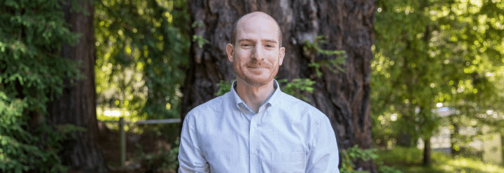 Portrait of Michael Patnode in the redwoods