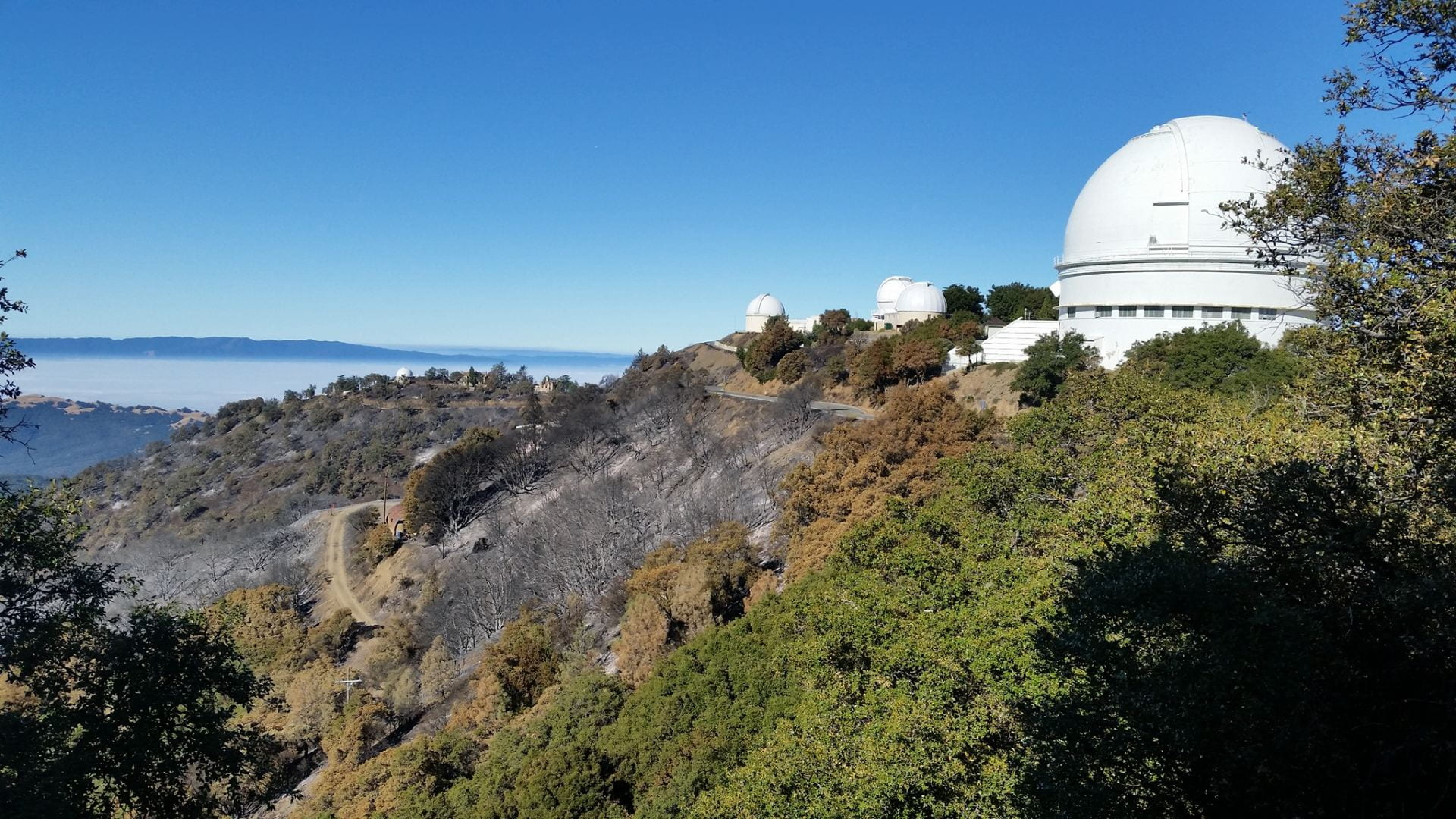 Lick – The Observatory was narrowly saved from the wildfire