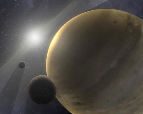 Astronomers measure enormous planet lurking far from its star