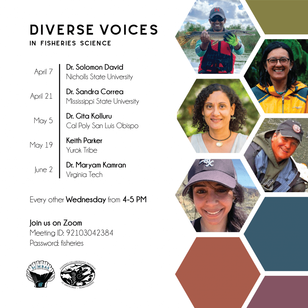 Diverse Voices in Fisheries Science Speaker Series poster