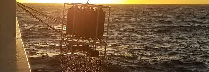 San Diego sunset at sea