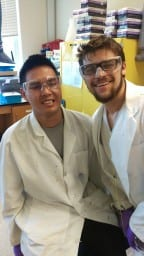 Bunnarack with our 2015 REU student Evan Kelly