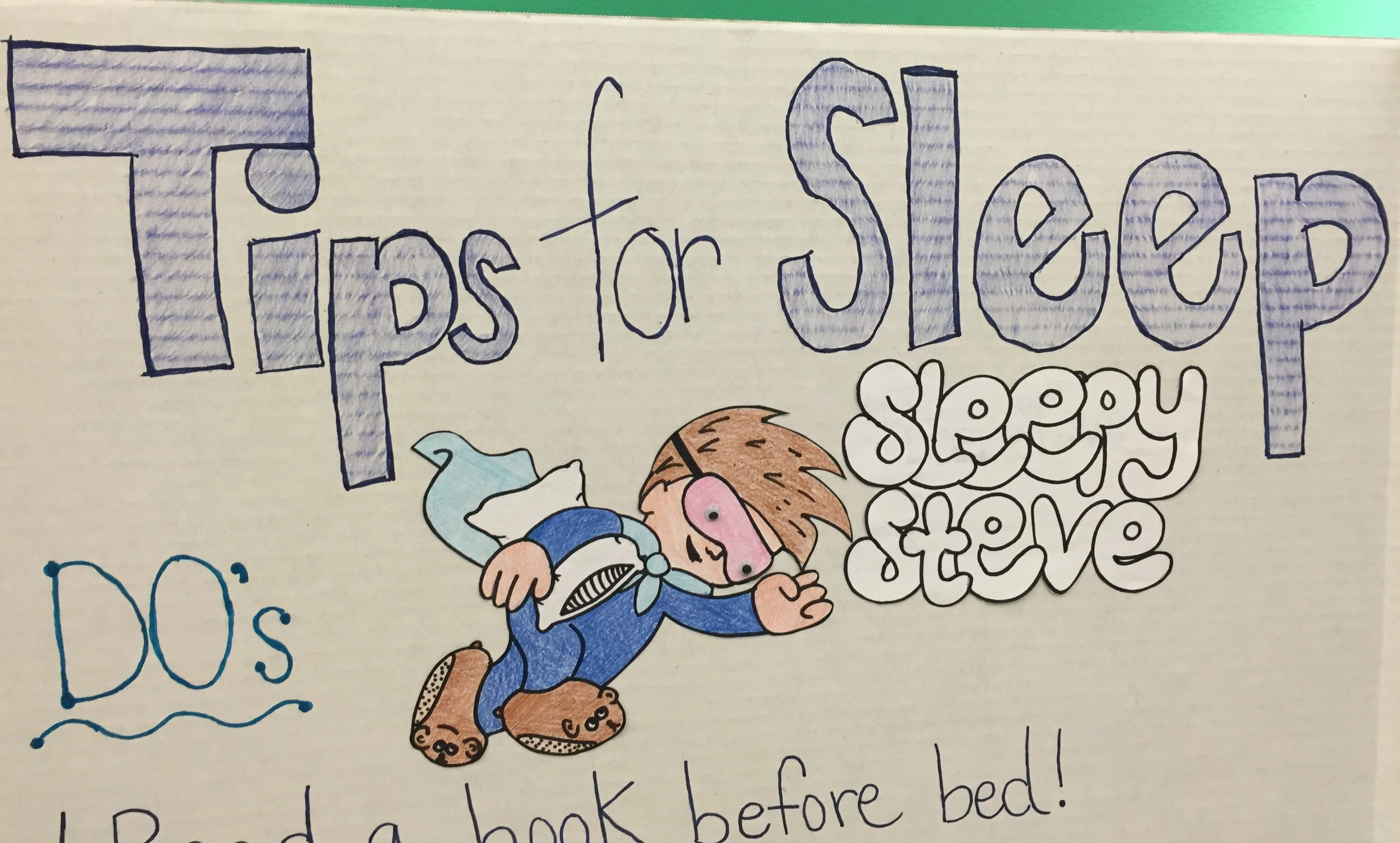 Tips for sleep - Sleepy Steve