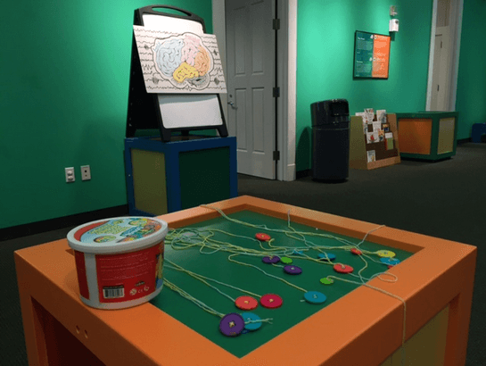 SNaC Lab polysomnography activity for children at the Mayborn Museum
