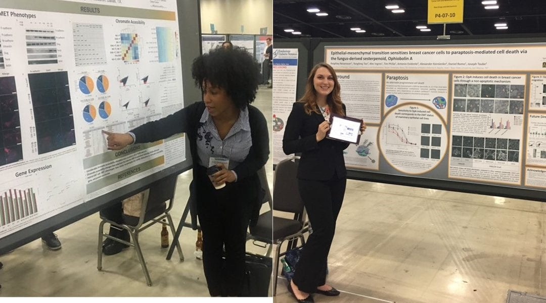 Kelsey and Keighley present at SABCS
