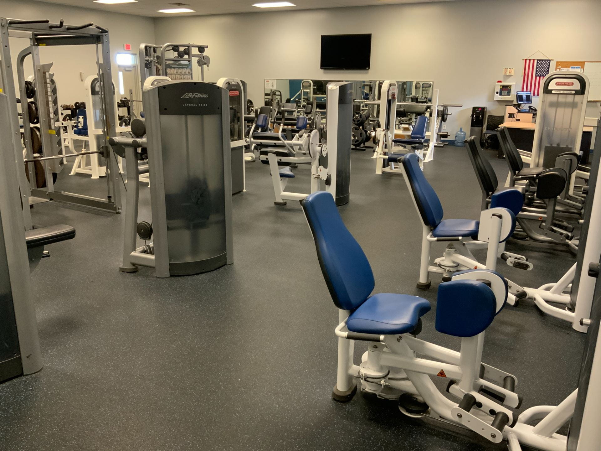 General view of north campus weight room.