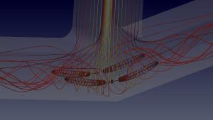 Vortex breakdown streamlines