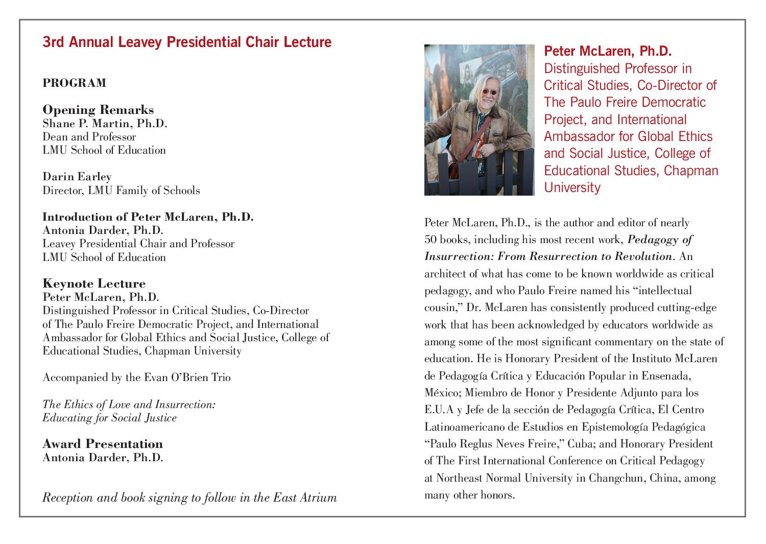 Leavey Lecture 2