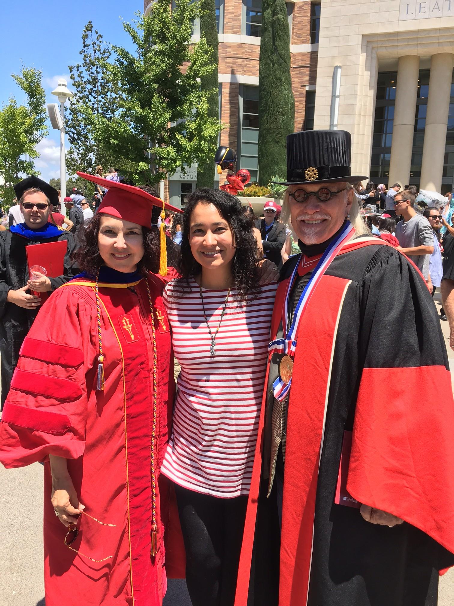 2016 Chapman University Graduation with Fatima and Lilia