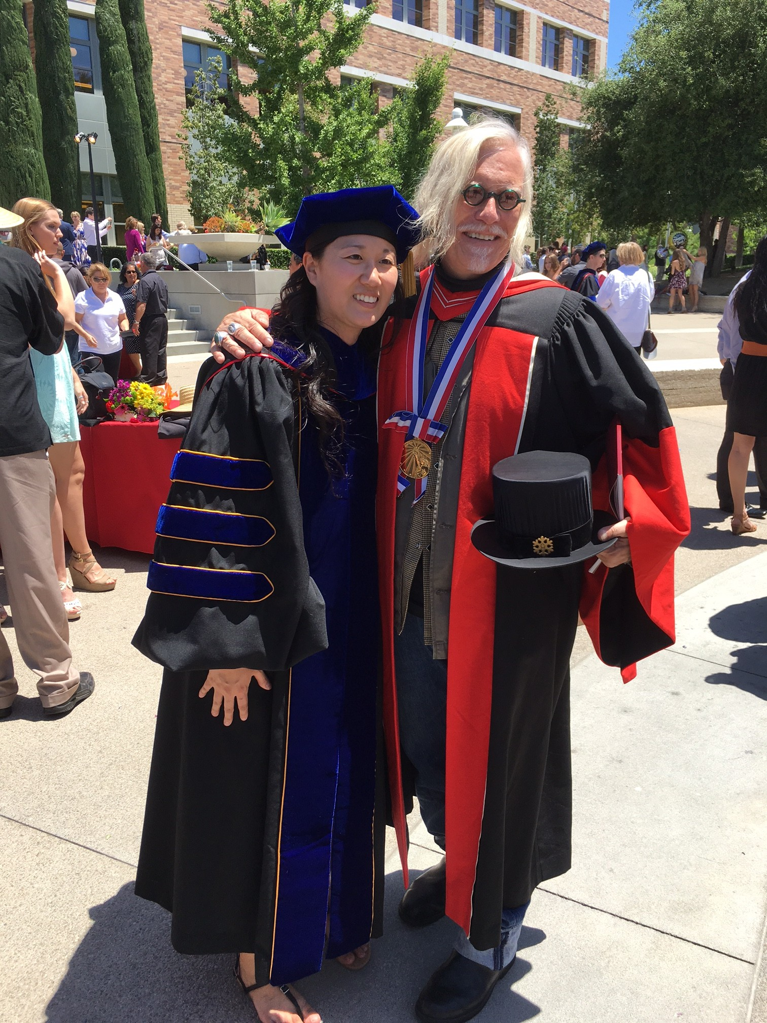 2016 Chapman University Graduation with Holly Pearson
