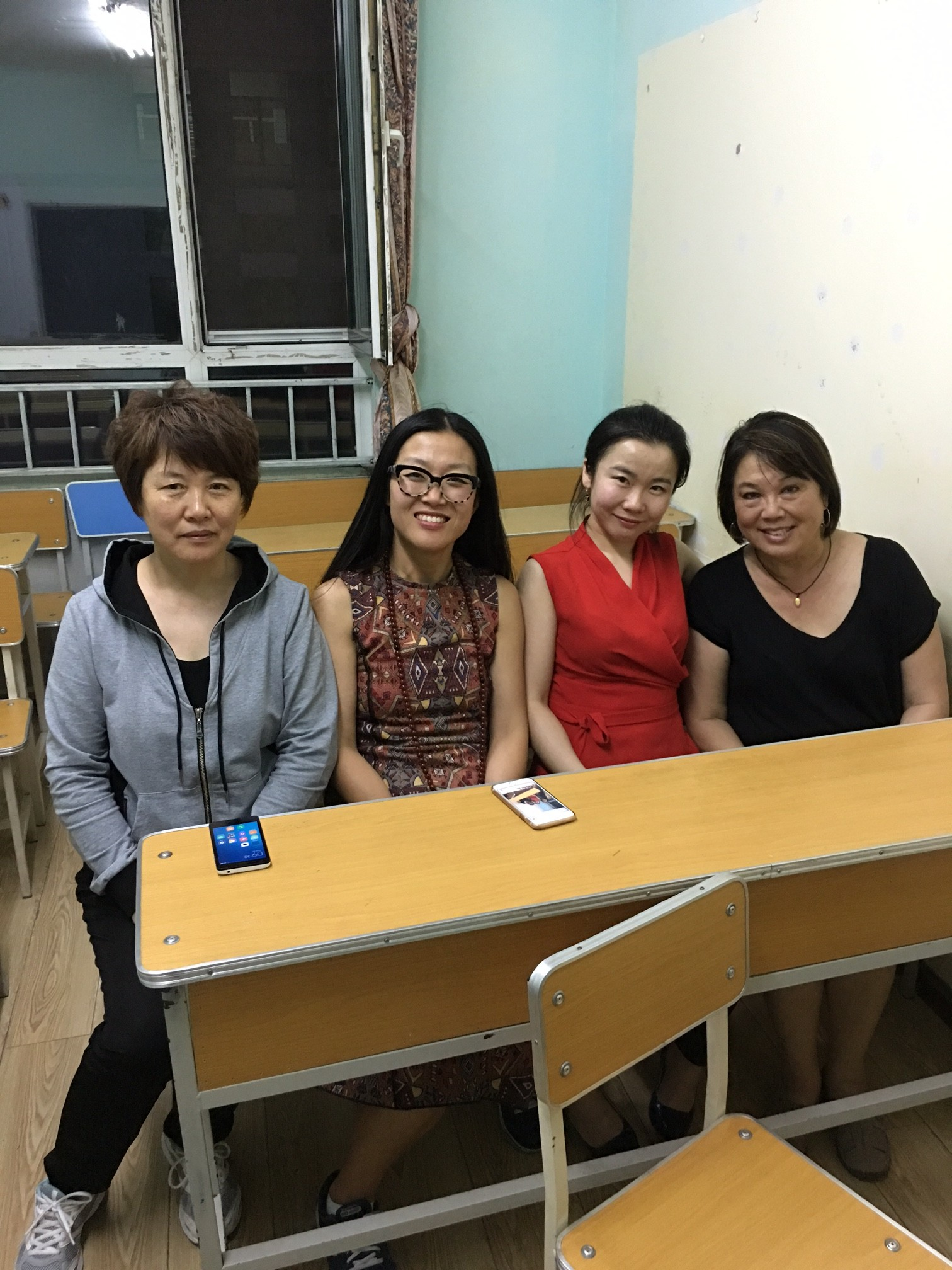Suzi with Peter's Chinese Family in Harbin, China