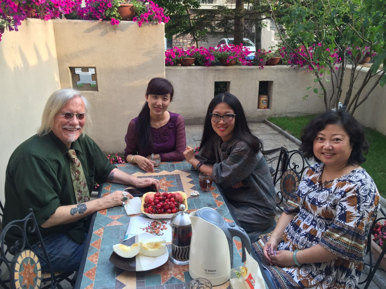 Peter, Joy, Angie and Dr. Han in Chagchun