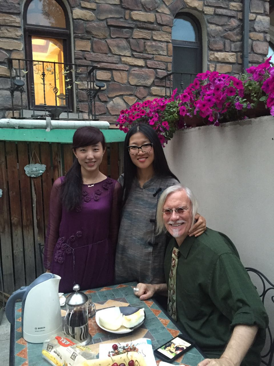 Joy, Angie and Peter in Changchun