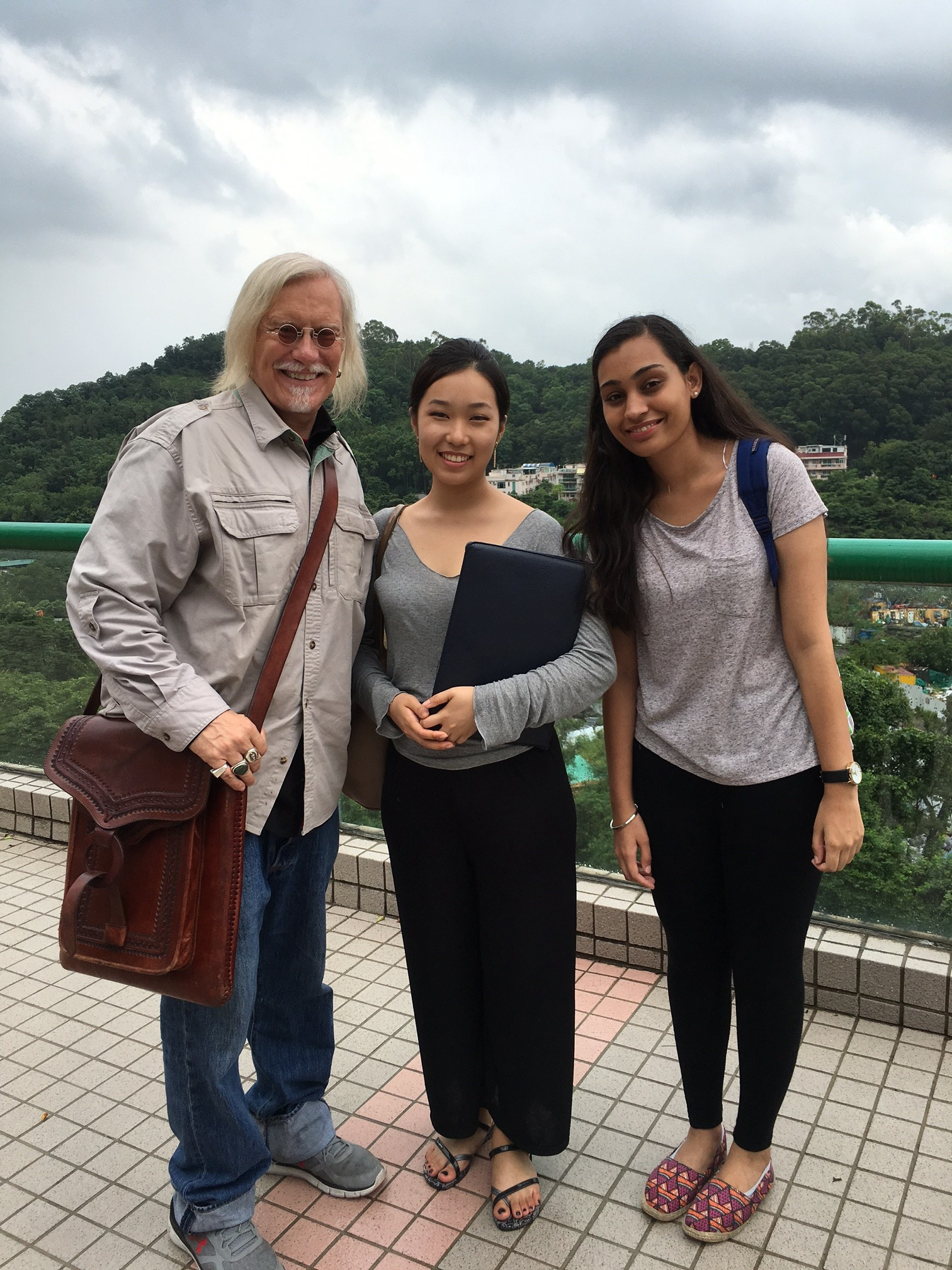 Peter and Mel and Renu in Hong Kong
