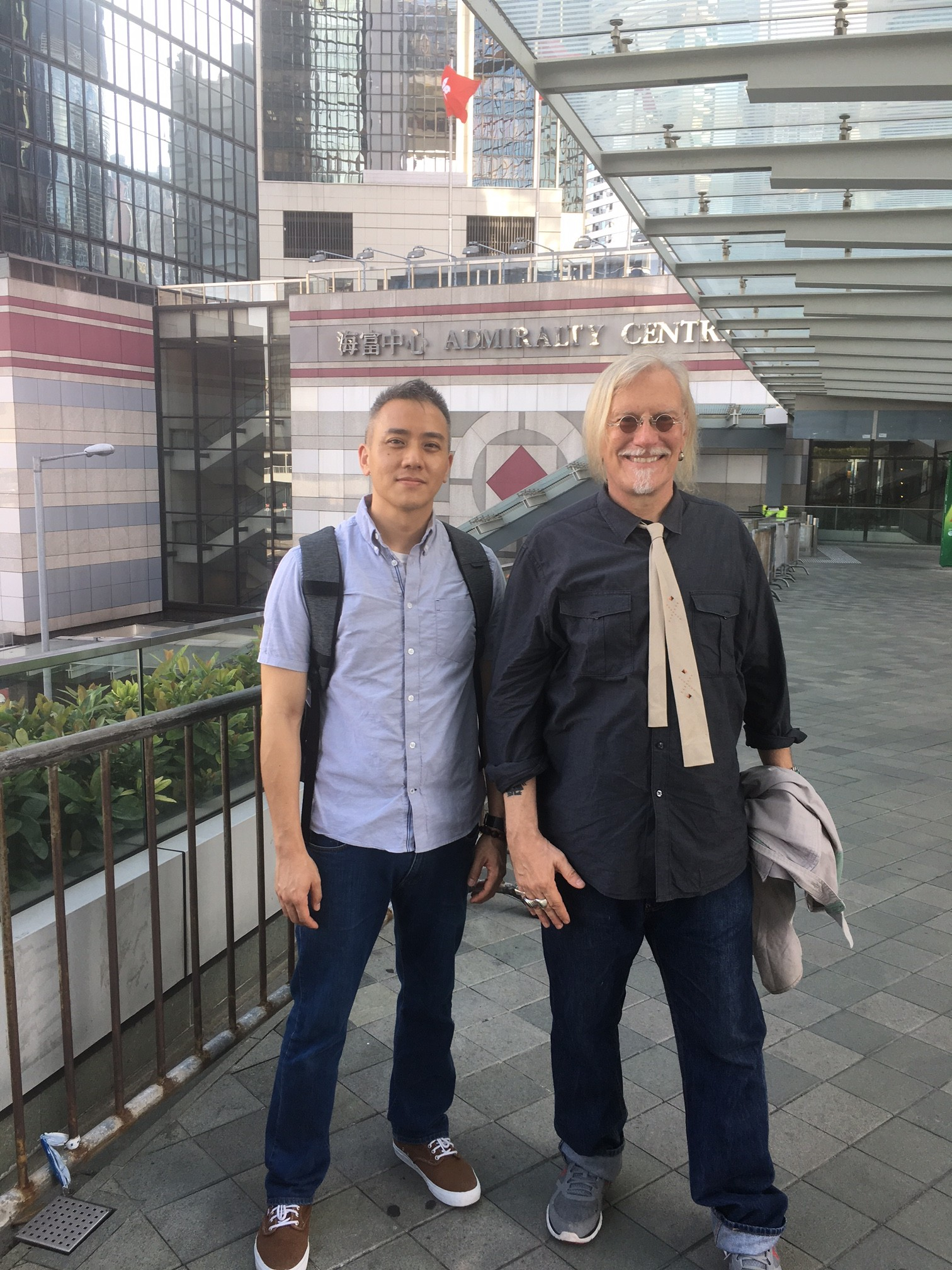 Dr Benji Chang and Peter in Hong Kong