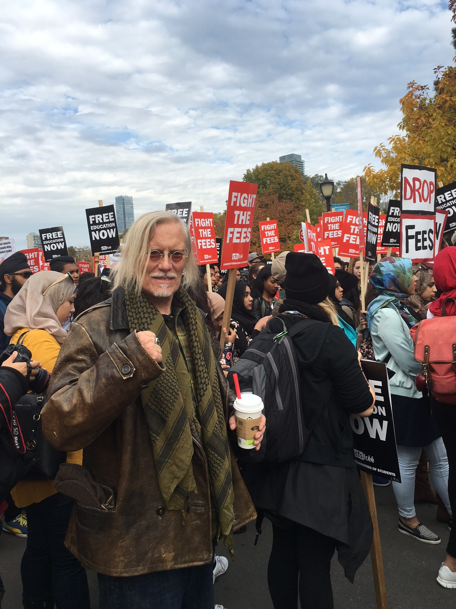 Peter Protesting with students at University of Toronto
