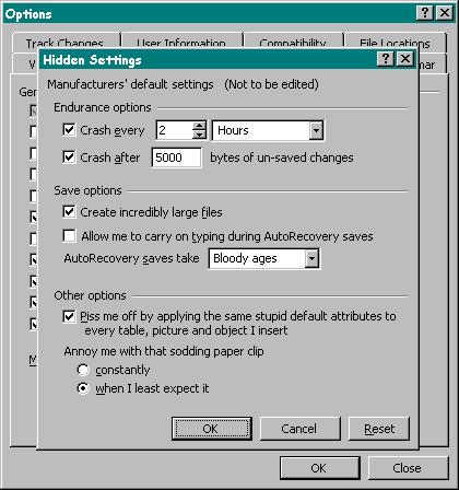 Windows-HIDDEN settings