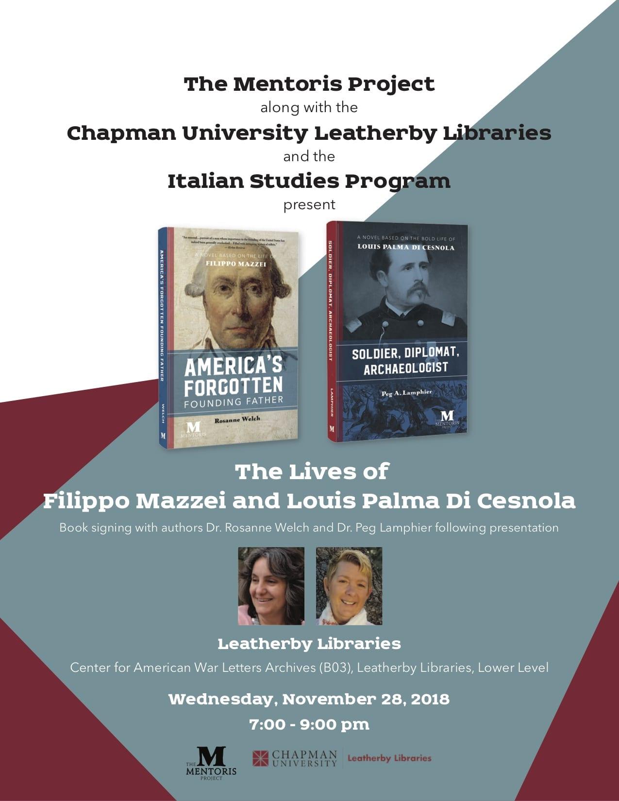 Italian Florence: The Lives Of Filippo Mazzei And Louis Palma Di Cesnola