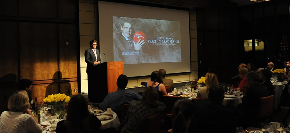 Update: 2013 award ceremony for the Henry R. Kravis Prize in Leadership
