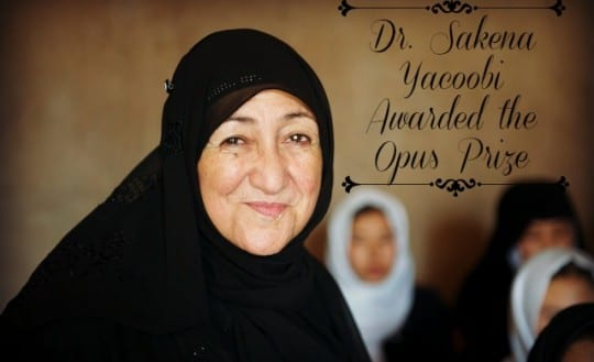 Sakena Yacoobi's educational efforts honored with Opus Prize
