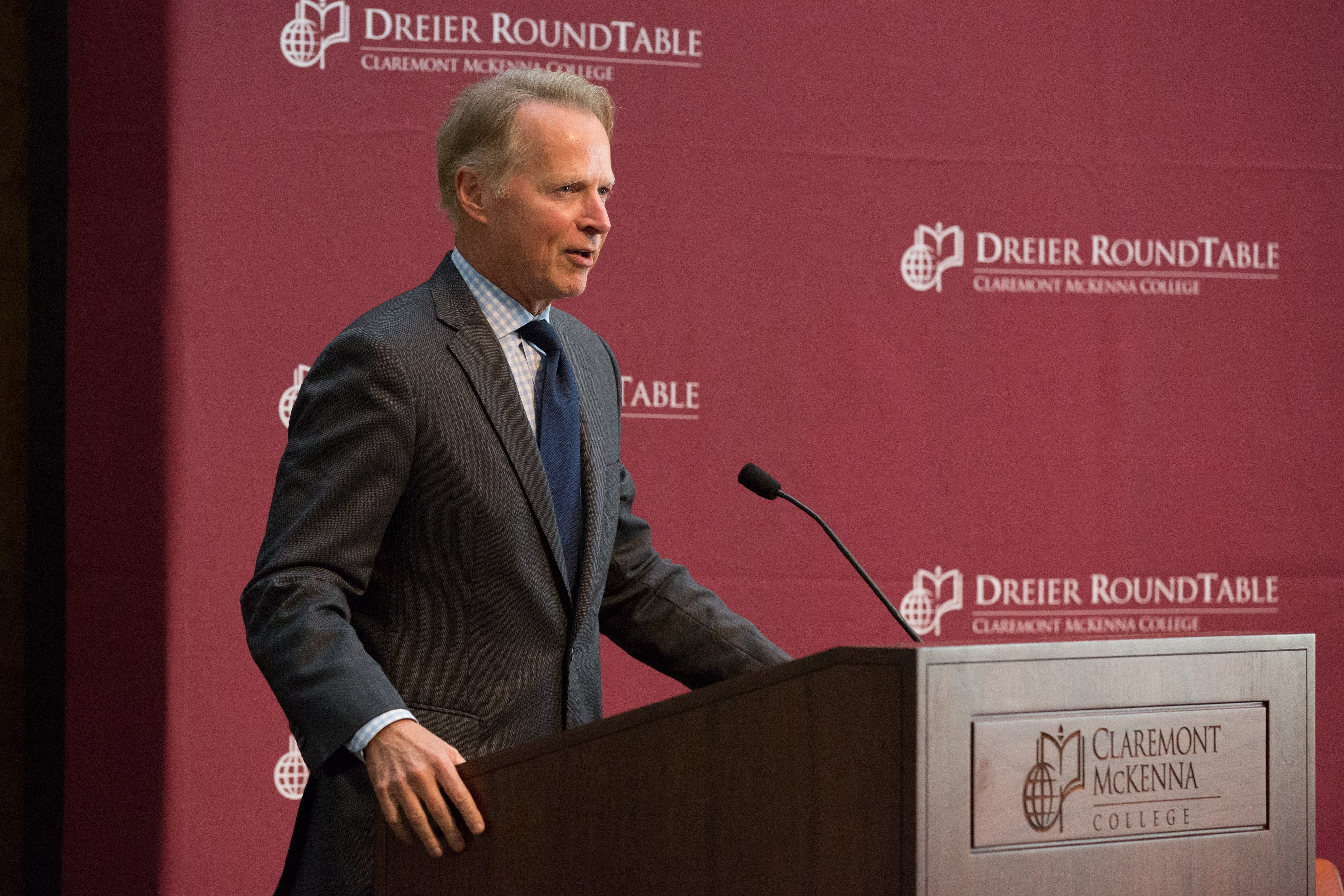 David Dreier speaking about the inauguration of the Dreier Roundtable.