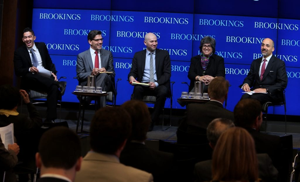 Dreier Roundtable (DRt) and the Brookings Institution hosts DRt's inaugural Washington, DC, conference, focusing on how to retain foreign graduates of U.S. universities in STEM fields (science, technology, engineering and mathematics) Thursday, March 27, 2015. (Sharon Farmer/sfphotoworks)