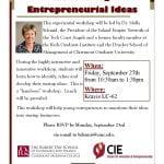 Generating Entrepreneurial Ideas Flyer 2 - Molly 9-13