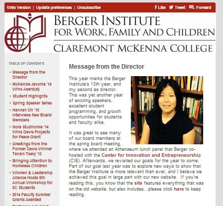 Berger Institute Newsletter