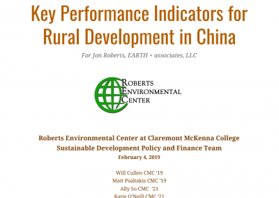 Key Performance Indicators for Rural Development in China Cover Page