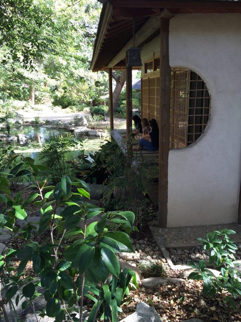Japanesegarden_students in structure
