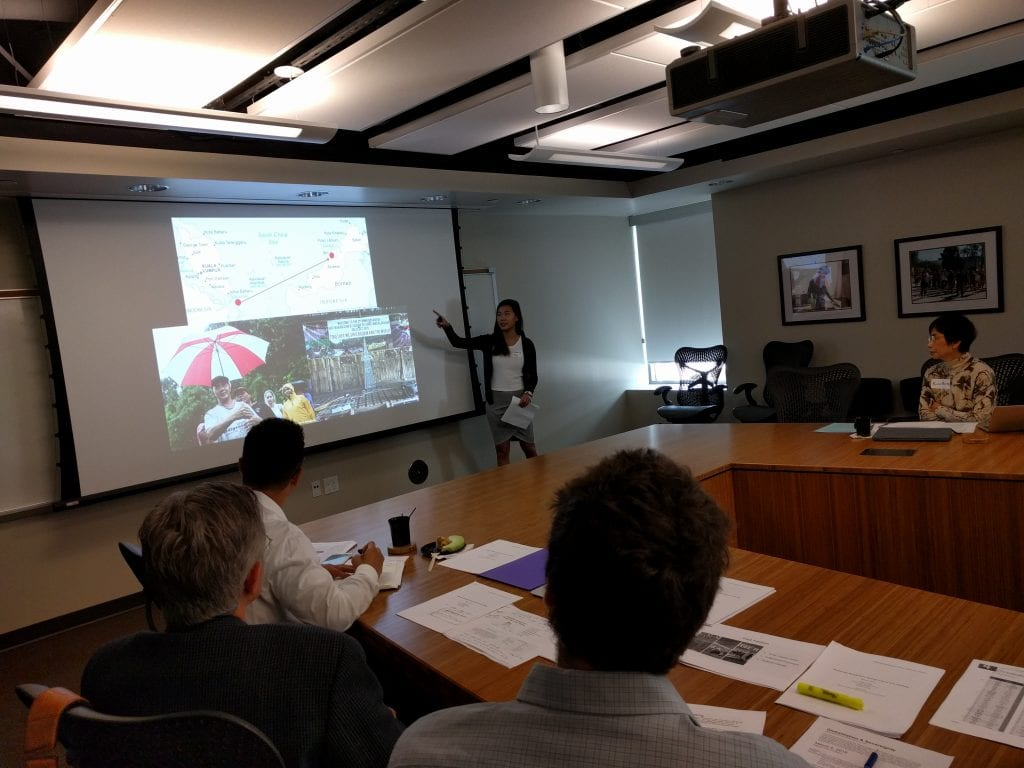 Isabelle Ng presents her research