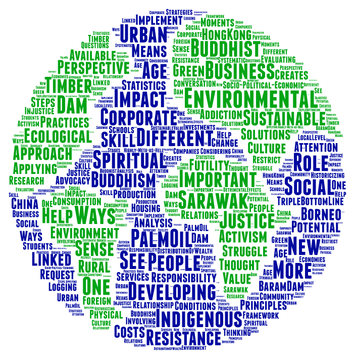 Word Cloud created from evaluation asking what participants learned at the conference