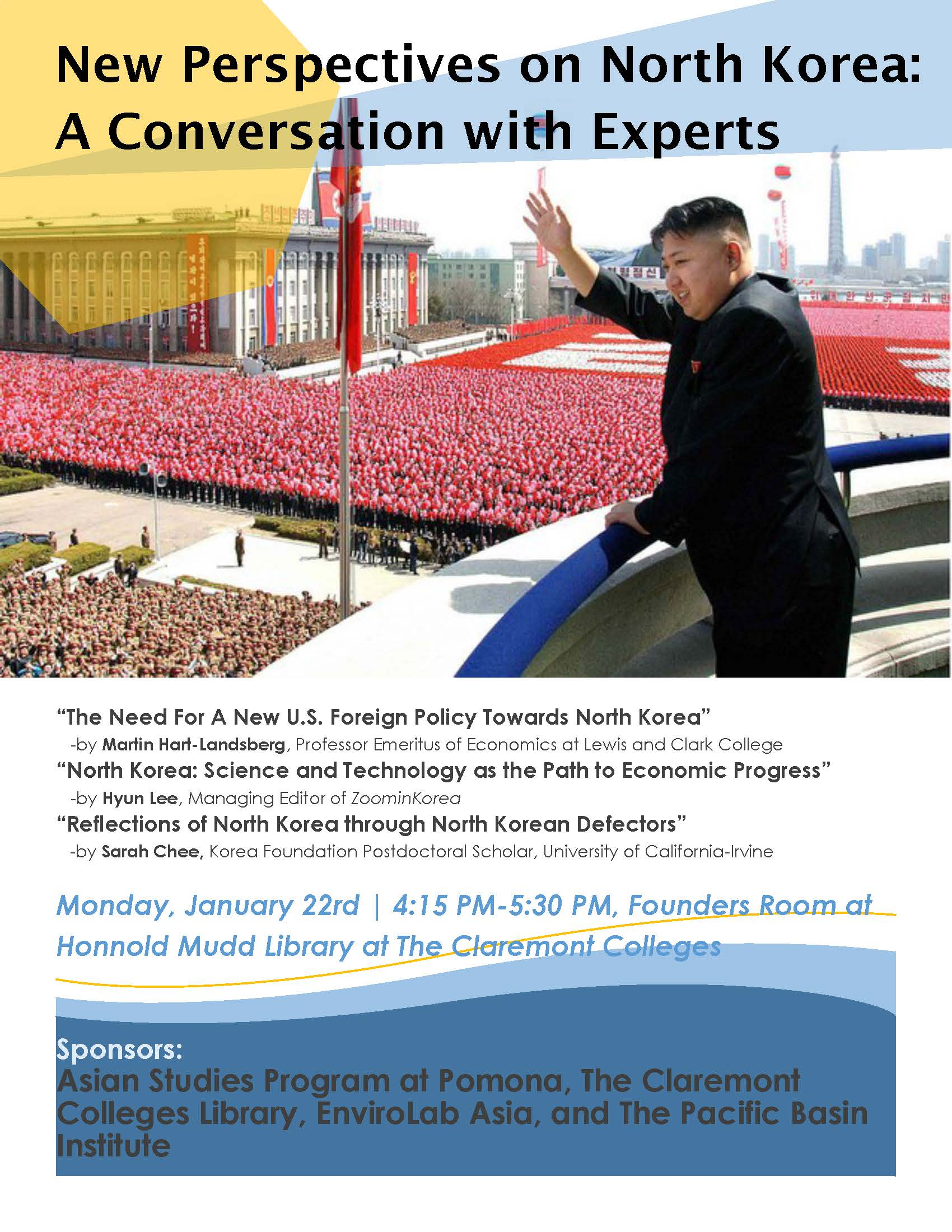 New Perspectives on North Korea: A Conversation with Experts – 1/22/18