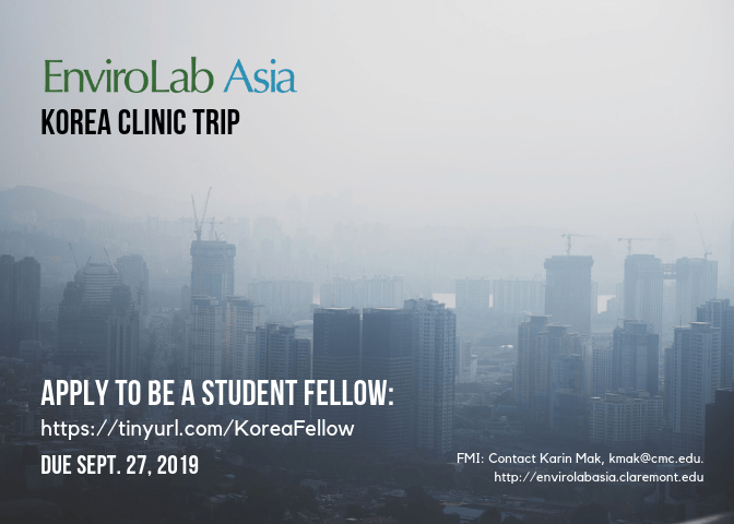 Apply to be an EnviroLab Asia Student Fellow – Korea Clinic Trip