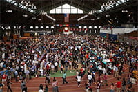 Photo of Barton Hall filled with students during Clubfest