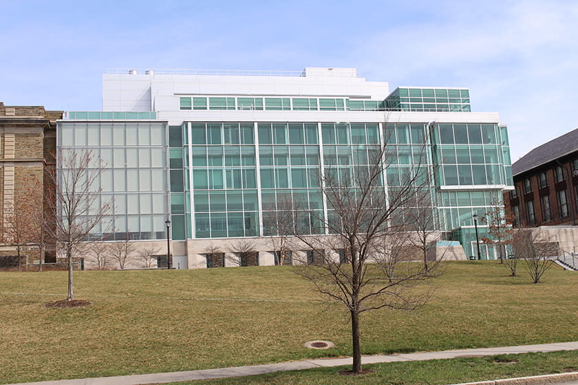 A photograph of the Physical Sciences Building.